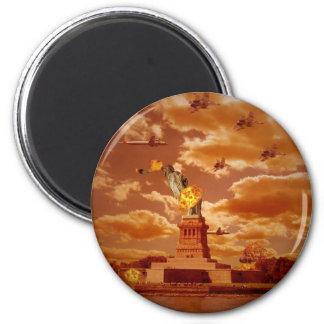 The Invasion Of NewYork 6 Cm Round Magnet