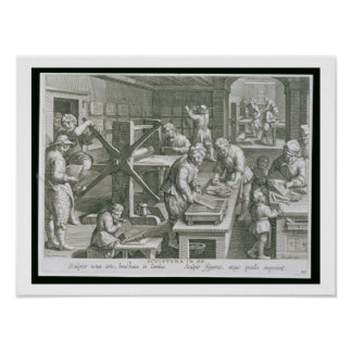 The Invention of Copper Engraving, plate 20 from ' Poster