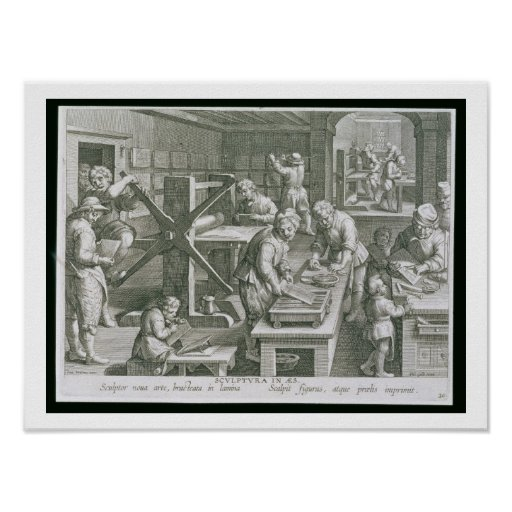 The Invention of Copper Engraving, plate 20 from ' Print