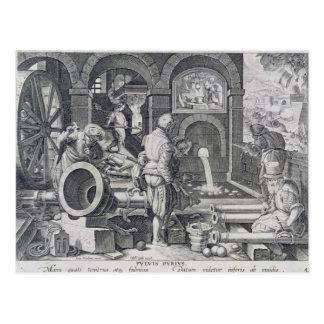 The Invention of Gunpowder Postcard