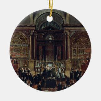 The Investiture of a Monarch in San Lorenzo (oil o Round Ceramic Decoration