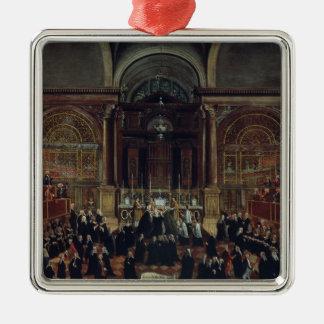 The Investiture of a Monarch in San Lorenzo (oil o Silver-Colored Square Decoration