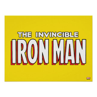 The Invincible Iron Man Logo Poster