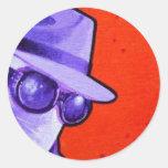 """the Invisible Man"" Round Sticker"