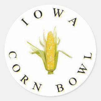 The Iowa Corn Bowl Round Sticker