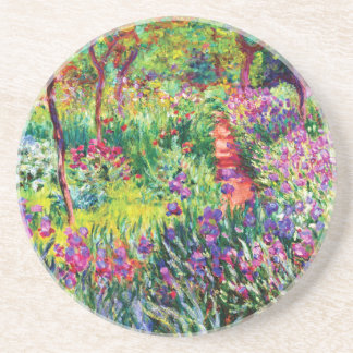 The Iris Garden at Giverny by Claude Monet Coaster
