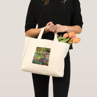 The Iris Garden at Giverny by Claude Monet Mini Tote Bag