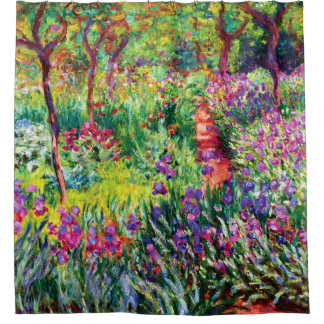 The Iris Garden at Giverny by Claude Monet Shower Curtain