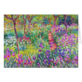 The Iris Garden at Giverny Claude Monet cool, old, Note Card