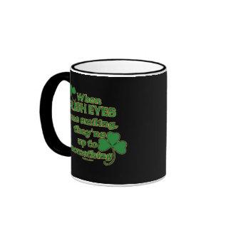 The Irish Eyes Joke on fun Irish Mugs #2