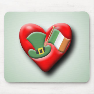 The Irish Heart Mouse Pads