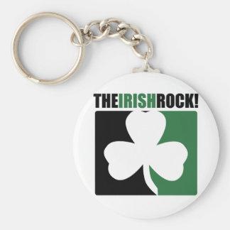 The Irish Rocks! Basic Round Button Key Ring