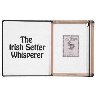 the irish setter whisperer iPad folio case