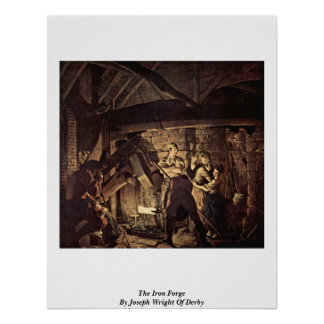 The Iron Forge By Joseph Wright Of Derby Print