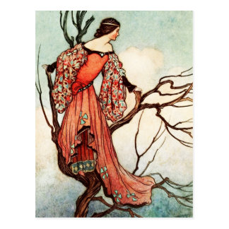 The Iron Stove: The Lost Princess Climbs a Tree Postcard