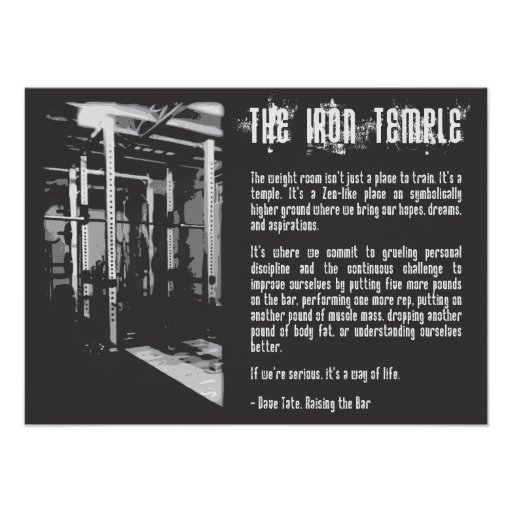 The Iron Temple - Gym Poster