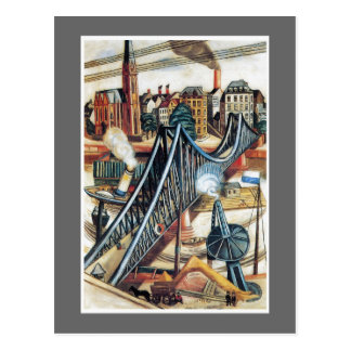 The Ironbridge by Max Beckmann Postcard