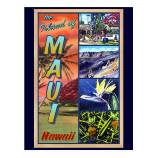 The Island of Maui Hawaii Postcard