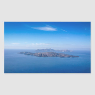 The islands in Greece Rectangular Sticker