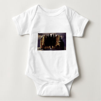 The Isle of the Dead by Arnold Böcklin Baby Bodysuit