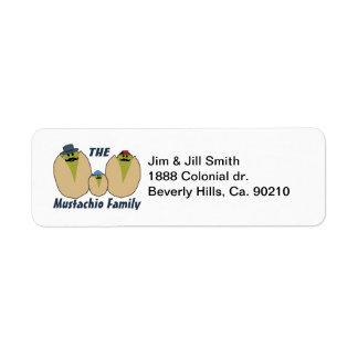 The Italian Mustachio Family Return Address Label