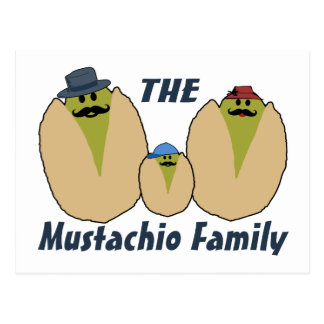 The Italian Mustachio Family Postcard