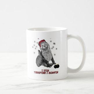 The Itching doG at Christmas Basic White Mug