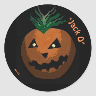 "the ""Jacko O"" Halloween sticker"