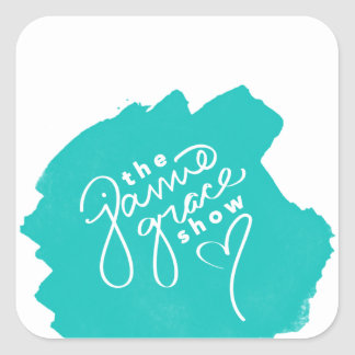 """The Jamie Grace Show"" Sticker (Teal)"
