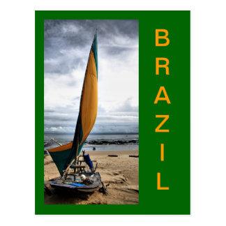 The Jangadas of Brazil Postcard