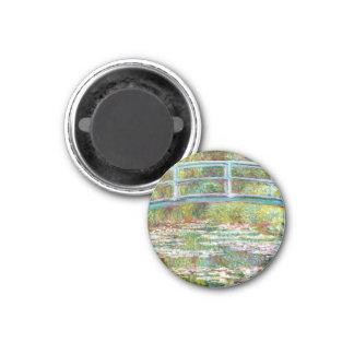 The Japanese Bridge 1899 Claude Monet 3 Cm Round Magnet