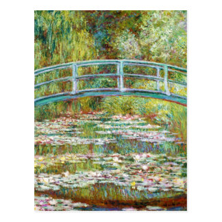 The Japanese Bridge 1899 Claude Monet Post Card