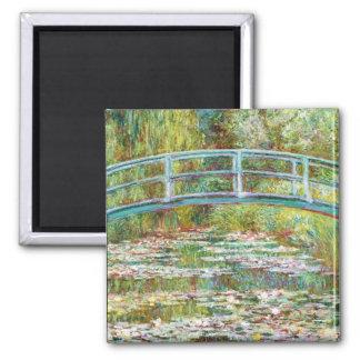 The Japanese Bridge 1899 Claude Monet Square Magnet