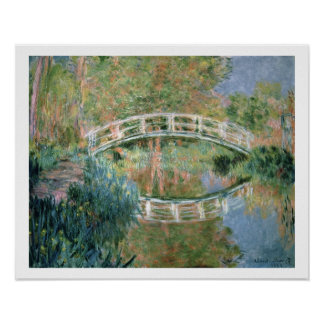 The Japanese Bridge, Giverny, 1892 (oil on canvas) Poster
