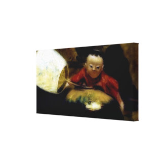 The Japanese Doll (detail) Stretched Canvas Print