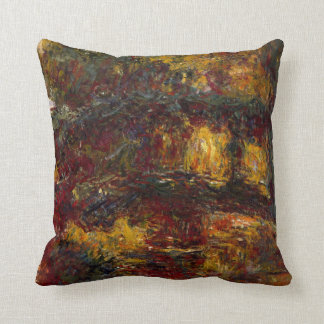 The Japanese Footbridge, Giverny by Claude Monet Cushion