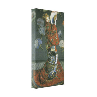 The Japanese Woman by Claude Monet Stretched Canvas Prints