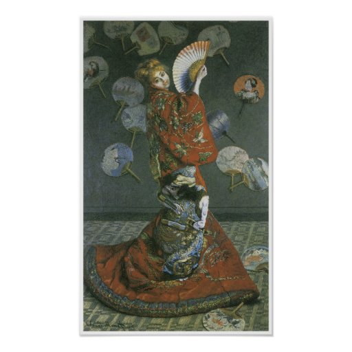 The Japanese Woman by Claude Monet Posters