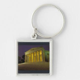 The Jefferson Memorial Silver-Colored Square Key Ring