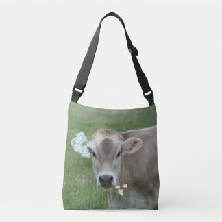 The Jersey Flower Child Cow Crossbody Bag