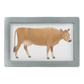 The Jersey Milk Cow Belt Buckle