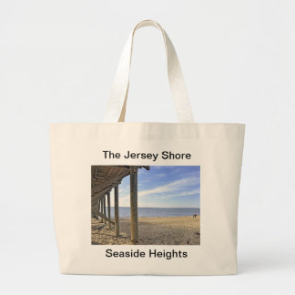 The Jersey Shore at Seaside Heights Large Tote Bag