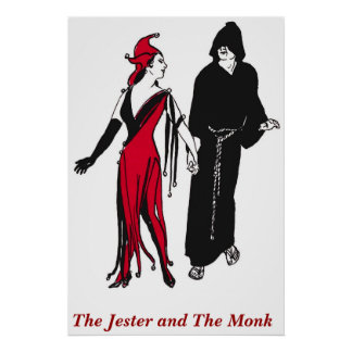 The Jester and The Monk Poster