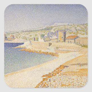 The Jetty at Cassis Square Sticker
