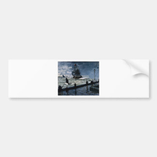 The Jetty at Le Havre, Bad Weather by Claude Monet Bumper Sticker