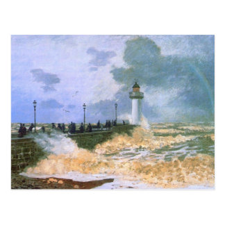The Jetty at Le Havre - Claude Monet Postcard