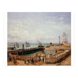 The Jetty, Le Havre, High Tide, Morning Sun Postcard