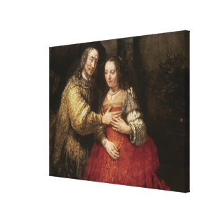 The Jewish Bride, c.1667 (oil on canvas) Canvas Prints