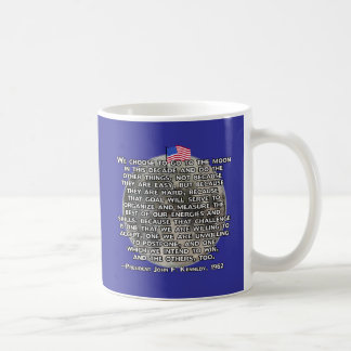 The JFK Quote That Sent Humans to the Moon Basic White Mug