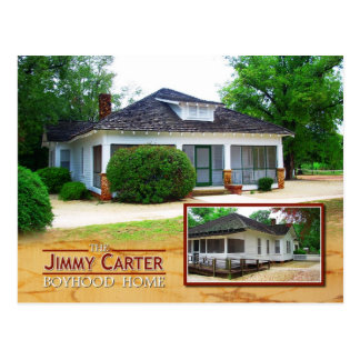 The Jimmy Carter Boyhood Home, Plains, Georgia Postcard